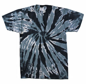 RGRiley | Mens Garment Dyed Tie Dye T-Shirt Black Stripe | Graded Irreglar