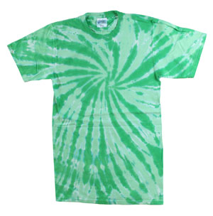 RGRiley | Mens Green Tie Dye Tee Shirts | Slightly Irregular