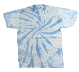 RGRiley | Mens Green Light Blue Tie Dye Tee Shirts | Slightly Irregular