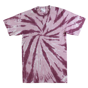 RGRiley | Mens Green Purple Tie Dye Tee Shirts | Slightly Irregular