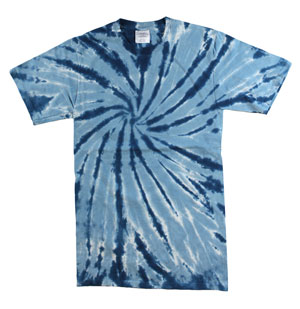RGRiley | Mens Garment Dyed Tie Dye T-Shirts Navy Swirl | Graded Irregular