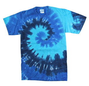 RGRiley | Mens Garment Dyed Tie Dye T-Shirts Ocean Rainbow | Graded Irregular