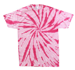 RGRiley | Mens Green Pink Tie Dye Tee Shirts | Slightly Irregular