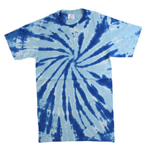 RGRiley | Mens Blue Tie Dye Tee Shirts | Slightly Irregular