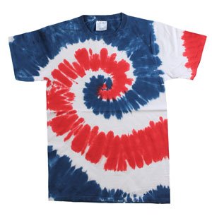 RGRiley | Mens Garment Dyed Tie Dye T-Shirts USA Rainbow | Graded Irregular