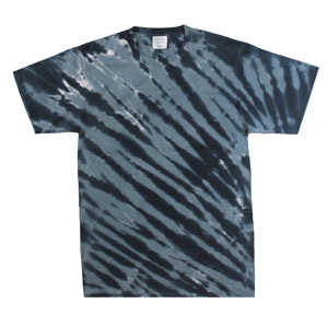 RGRiley | Mens Garment Dyed Tie Dye Black Stripe T-shirts | Graded Irregular