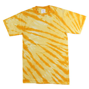 RGRiley | Mens Garment Dyed Tie Dyed Gold Stripe T-shirts | Graded Irregular