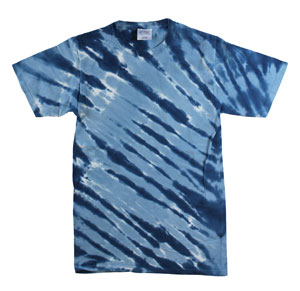 RGRiley | Mens Garment Dyed Tie Dyed Navy Stripe T-shirts | Graded Irregular