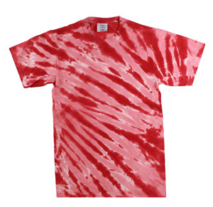 RGRiley | Mens Garment Dyed Tie Dyed Red Stripe T-shirts | Slightly Irregular