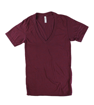 RGRiley | American Apparel Tri Blend Deep V-Neck T-Shirts | Irregular