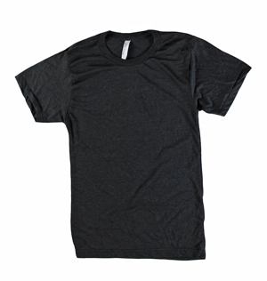 RGRiley | American Apparel Adult Black Tri-Blend T-Shirts | Irregular