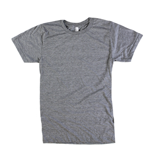 RGRiley | American Apparel Adult Heather Grey Tri-Blend T-Shirts | Irregular