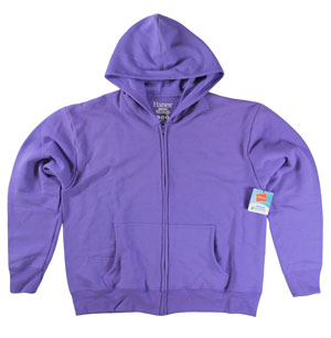 RGRiley | Womens Petal Purple Fleece Zipper Hoodies | Closeout