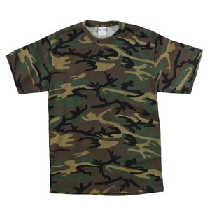 RGRiley | Mens Green Camouflage T-Shirts | Irregular