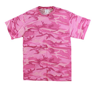 RGRiley | Mens Pink Camouflage T-Shirts | Irregular