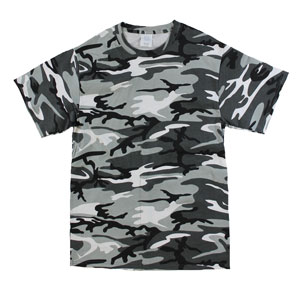 RGRiley | Mens White Camouflage T-Shirts | Irregular