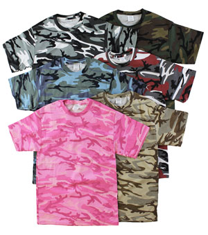 RGRiley | Mens Mixed Color Camouflage T-Shirts | Irregular