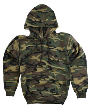 RGRiley | Mens Camouflage Green Pullover Hood | Slightly Irregular