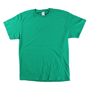 RGRiley | Mens Kelly Green Short Sleeve T-Shirts | Irregular