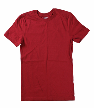 RGRiley | Mens Cardinal Short Sleeve T-Shirts | Irregular