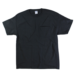 RGRiley | Mens Black Pocket T-Shirts | Irregular
