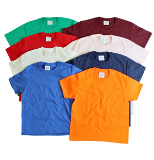 RGRiley.com | Kids Mixed Color T-Shirts | Slightly Irregular