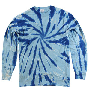 RGRiley | Mens Royal Swirl Tie Dye Long Sleeve T-Shirts | Irregular