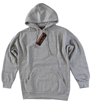 RGRikley.com | Mens West Creek Bulk Heather Grey Hooded Sweatshirts | Closeout