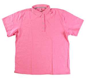 RGRiley | Plus Size Neon Pink Heather Golf Shirts | Irregular